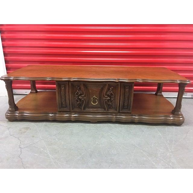 Solid Wood Mid Century Coffee Table