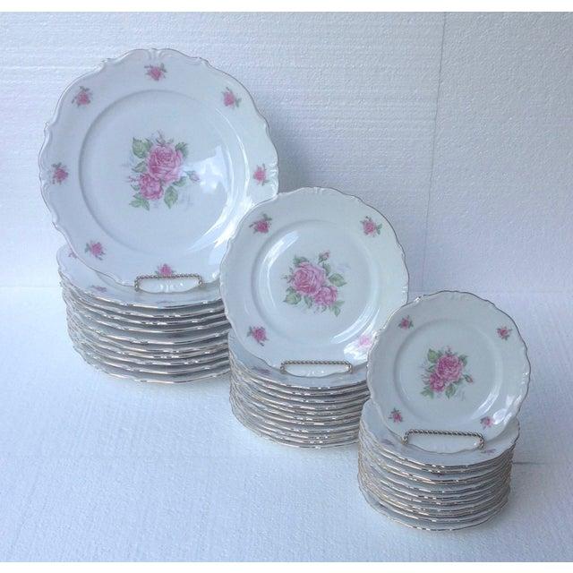 Bavarian Pink Rose China Set - Set of 84 - Image 5 of 8