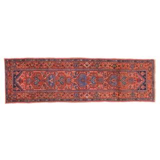 """Antique Persian Heriz Runner - 2'11"""" X 9'9"""""""