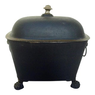 Antique Black and Gold Painted Coal Scuttle
