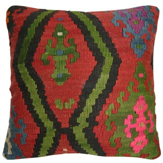Rug and Relic Red Kilim Pillow