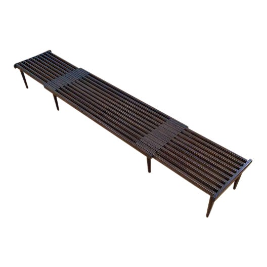 Brown Saltman Slat Bench - Image 1 of 10