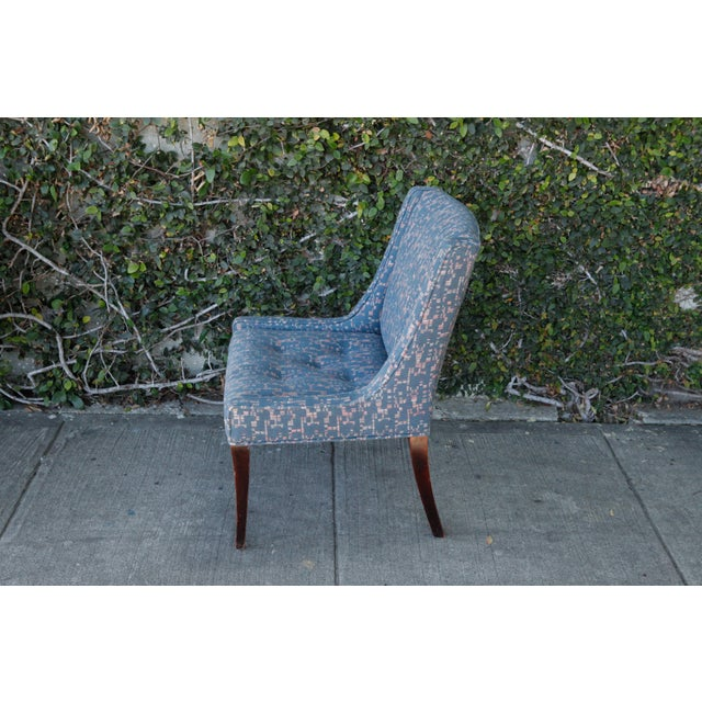 Retro Fabric Side Chairs - A Pair - Image 4 of 9
