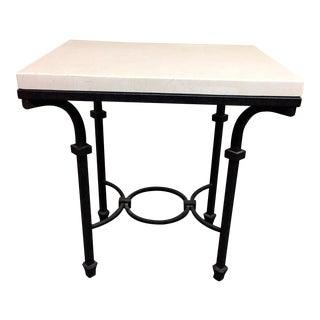 Kolkka Furniture Wrought Iron & Marble Side Table
