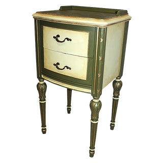 Vintage 1920s Mahogany Painted End Table