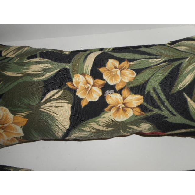 Tropical Palm Leaf & Orchid Pillows - a Pair - Image 6 of 8