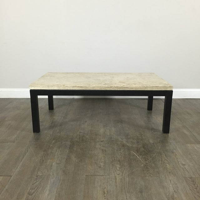 Travertine Coffee Table By Crate Barrel Chairish