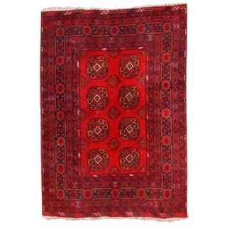 Vintage Afghan Ersari Rug - 4′7″ × 6′6″