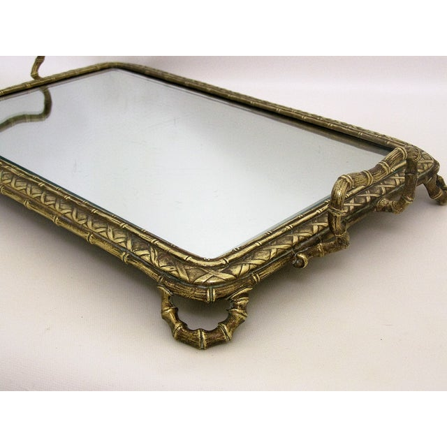 French Baccarat Bronze And Mirrored Antique Table Vanity