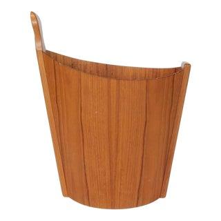 1950s Westnofa Teak Waste Basket