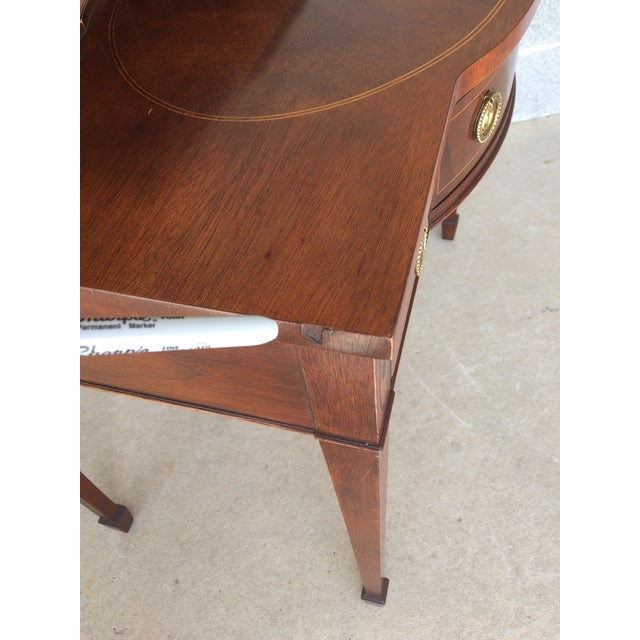 Baker Furniture Inlaid Mahogany 9 Drawer Writing Desk - Image 8 of 9