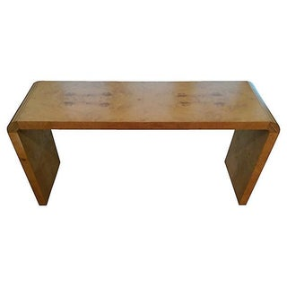 Henredon Burl Wood Console Table