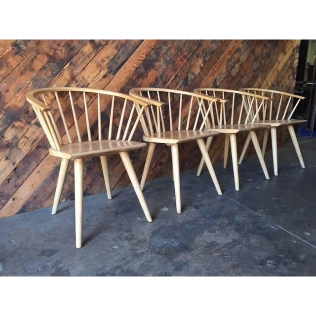 Mid Century Spindle Chairs - Set of 4 - Image 3 of 6