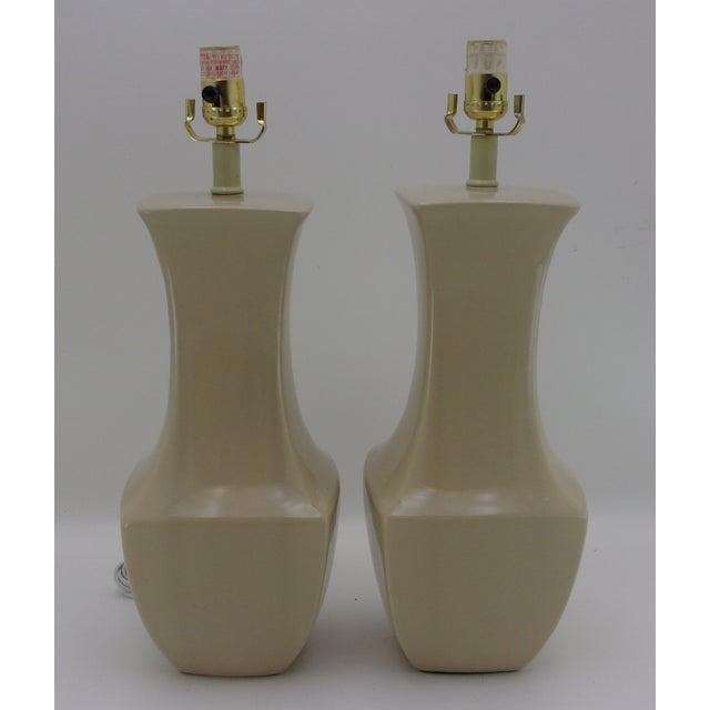 Image of Vintage Porcelain Table Lamps - A Pair