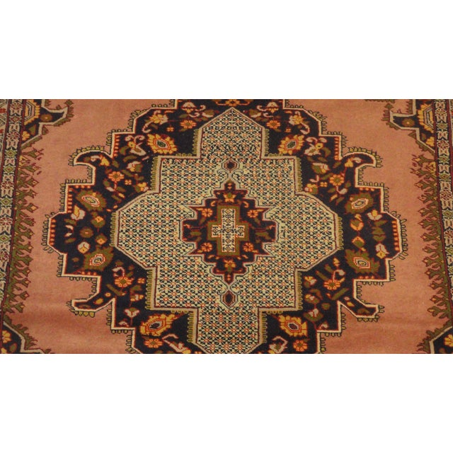 "Persian Faded Pink Senneh Rug - 4'4"" x 6'3"" - Image 2 of 5"