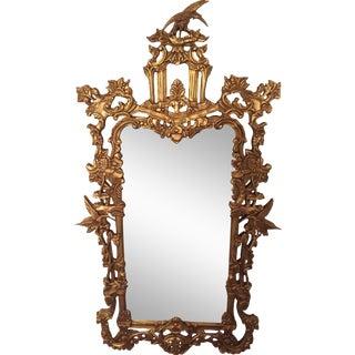 Schumacher Gilded Chinoiserie Mirror