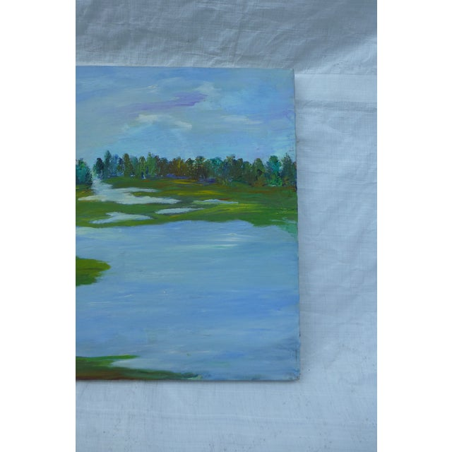 Image of H.L. Musgrave MCM Painting of Flowing River