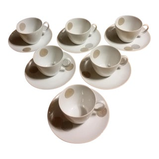 Raymond Loewy for Rosenthal Continental China Cups & Saucers - 12 Pieces