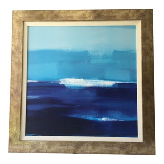 Abstract Blue Ocean Painting