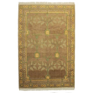 "RugsinDallas Hand Knotted Wool Indian Rug - 6'1"" X 8'11"""