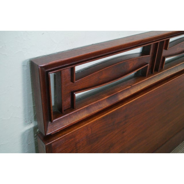 Mid Century Modern Walnut King Size Headboard - Image 5 of 10