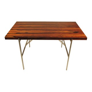 Custom Milo Baughman for Thayer Coggin Chrome Writing Table