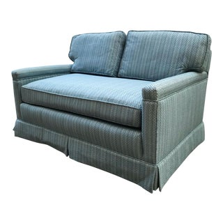 Blue Striped Vintage Small Sofa Settee