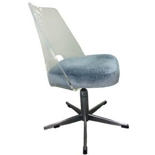 Lucite & Chrome Swivel Desk Chair