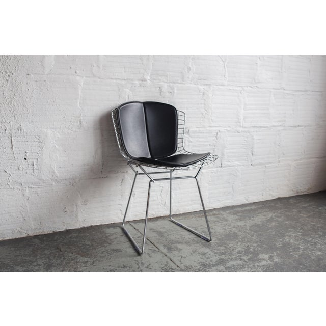 Knoll Bertoia Black Padded Wire Side Chair - Image 3 of 8