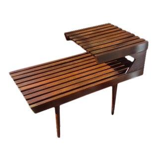 Mid-Century Modern Slatted End Table