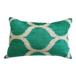 Jay Silk Velvet Ikat Pillow