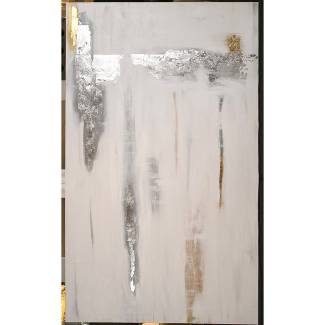 Image of Silver Rush Abstract Acrylic Painting