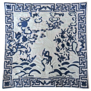 Blue and White Oriental Lamp/Table Matt