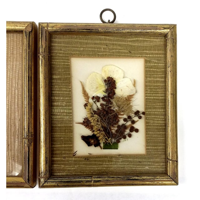 Mid-Century Botanical Flower Art Pieces - A Pair - Image 4 of 7