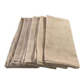 Set of 5 Linen Dinner Napkins