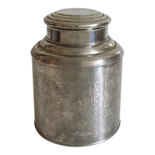 Vintage Chinese Metal Tea Canister
