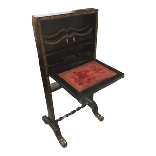 Chinese Export Gilt & Laquered Desk