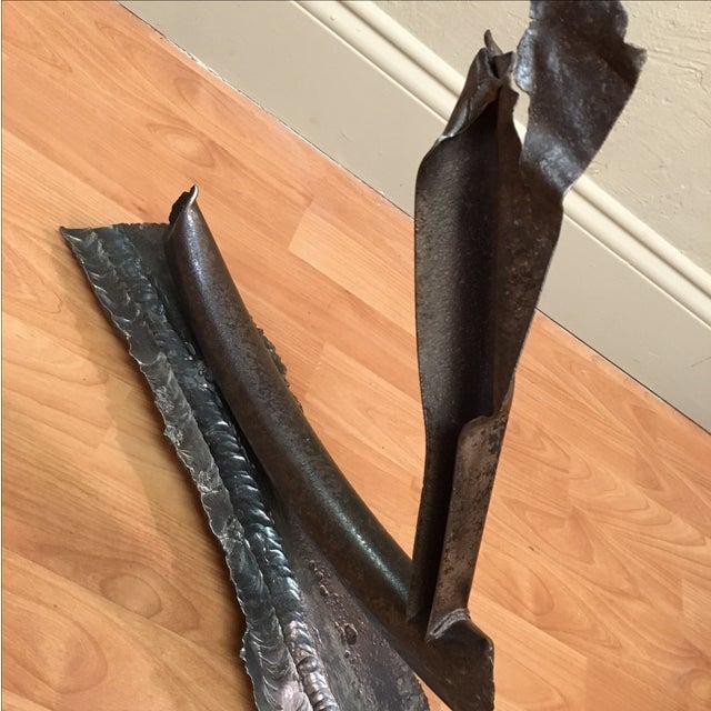 Mid-Century Brutalist Industrial Pipe Sculpture - Image 3 of 9