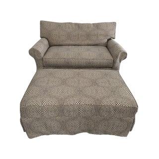 Crate & Barrel Sleeper Sofa and Storage Ottoman