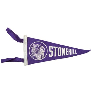 Vintage Stonehill Felt Flag Banner