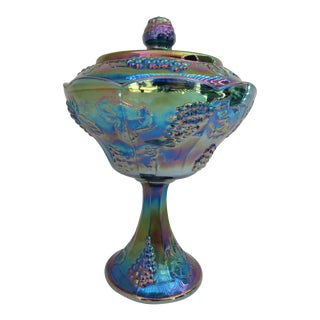 Carnival Glass Compote
