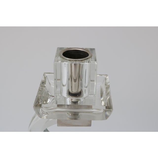 Polished Chrome Trim Candle Holders - A Pair - Image 7 of 9