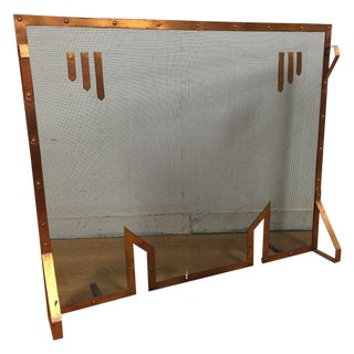Hand Made Copper Fire Screen