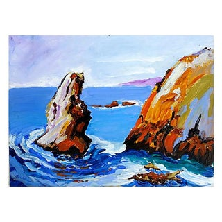 Acrylic Painting - Knife Rock by Terry Gardiner