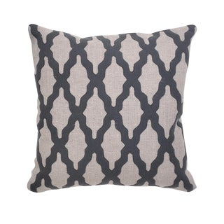 Transitional Charcoal Felt & Linen Pillow