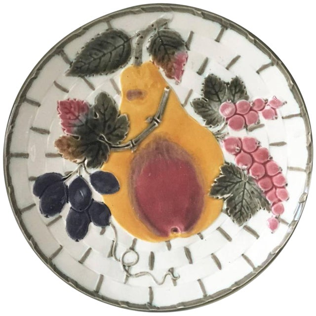 19th Victorian Majolica Pear Fruit Wedgwood - Image 1 of 2