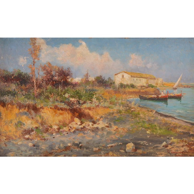 Image of Pietro Barucci Italian Countryside Scene Painting
