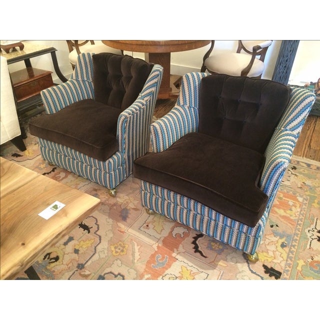Vintage Reupholstered Club Chairs - A Pair - Image 3 of 9