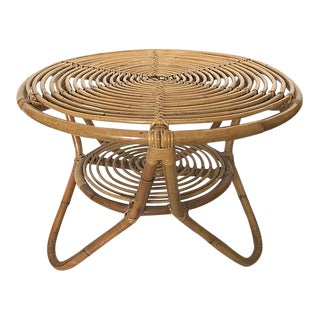 1950's Modernist Bamboo Coffee Table