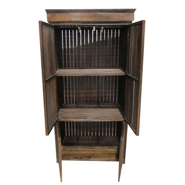 Vintage Sarreid LTD Philippine Teak Cabinet Cupboard - Image 5 of 7